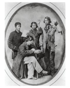 Swearing in Native American Recruits Civil War